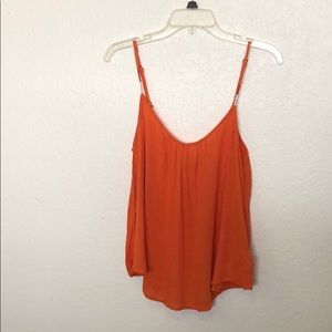 Roxy Orange Flowy Boho Blouse